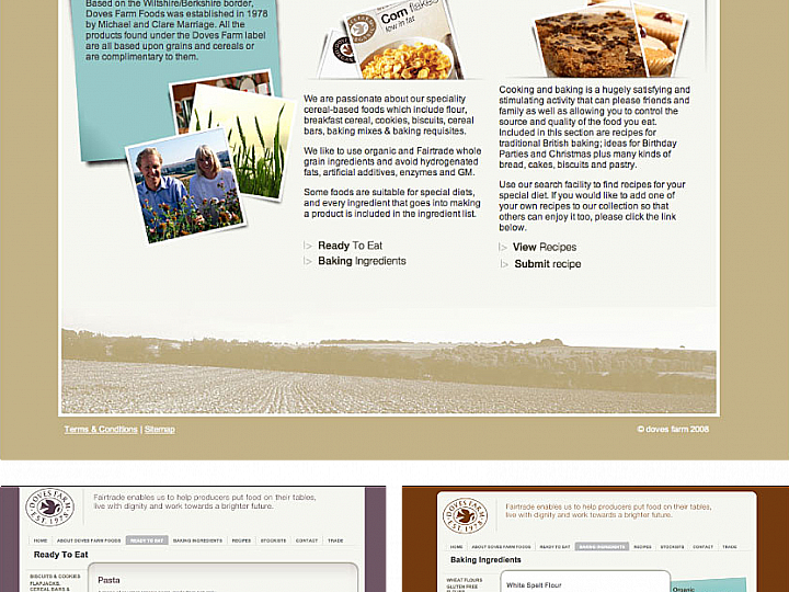 Doves Farm Homepage [Desktop]